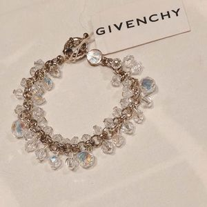 "NWT Givenchy Crystal Swarovski Silver  6"" Bracelet"